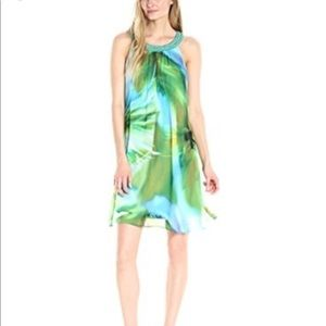 NEW SIGNATURE BY ROBBIE BEE tropical shift dress